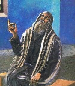 """""""תפילה"""". ציורו של הענדל ליברמן"""