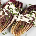 Grilled Radicchio with Goat Cheese Fondue Dressing