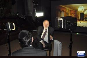 Rabbi Dr. Tzvi Hersh Weinreb being interviewed by JEM
