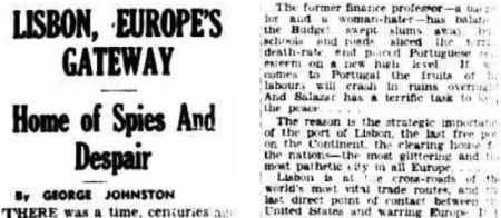 An article that appeared in The Argus (Melbourne, Australia), Tuesday, May 6, 1941.
