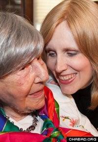 With one of her many grandchildren (Photo: Alex Gorokhov)