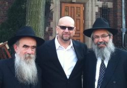 With Rabbis Shemtov and Grossbaum.