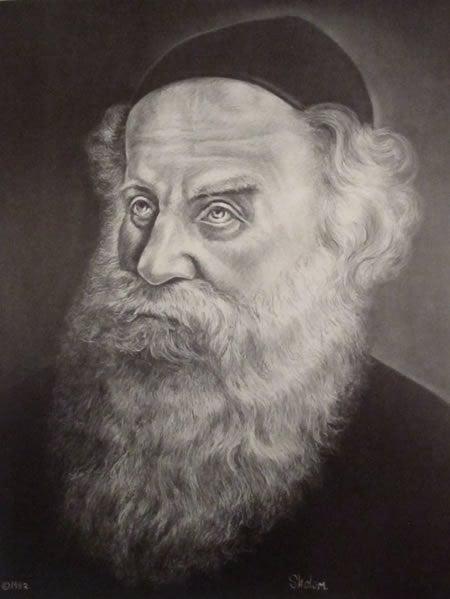 """אדמו""""ר הזקן (ציורו של שלמה נמצוב)"""