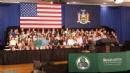 PHOTOS: Invocation by Rabbi Slonim - POTUS Town Hall Meeting at Binghamton University