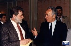 Shlomo Shamir with Shimon Peres