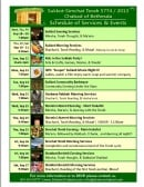 Full Schedule of Events and Services