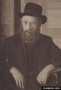 Rabbi Shalom DovBer Schneersohn, the fifth Rebbe of Chabad-Lubavitch