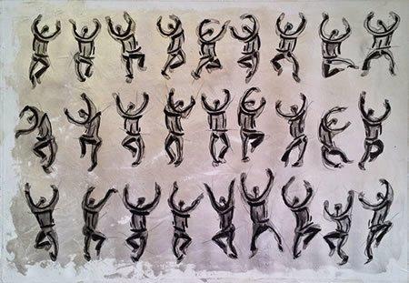 Acrylics, Indian Ink & pencils 50 cm X 35 cm on canvas paper 2013