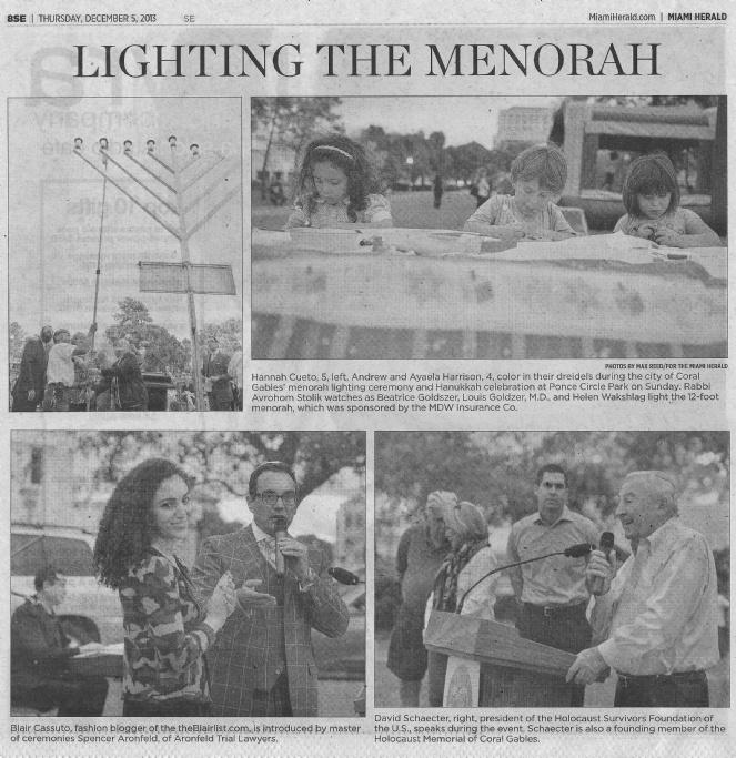 Miami Herald Chanukah 2013
