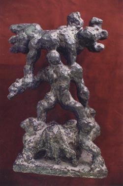 """""""La guerre"""" par Jacques Lipchitz, présentée au Rabbi par le sculpteur"""