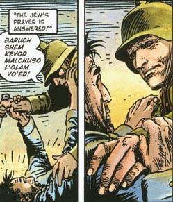 Detail of Jewish comics by Joe Kubert.