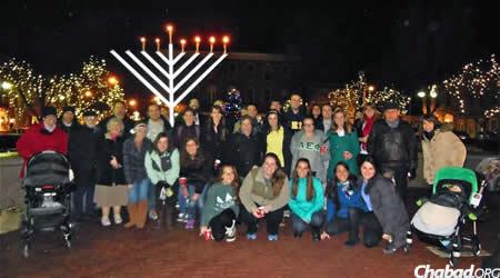 Just having arrived at Miami University in Ohio, tthe Greenbergs and the Hillel Foundation co-hosted a successful public menorah-lighting, which was attended by community members and students alike.