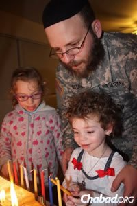 For chaplains like Rabbi Stern, bringing Judaism to the troops can sometimes be a family affair.