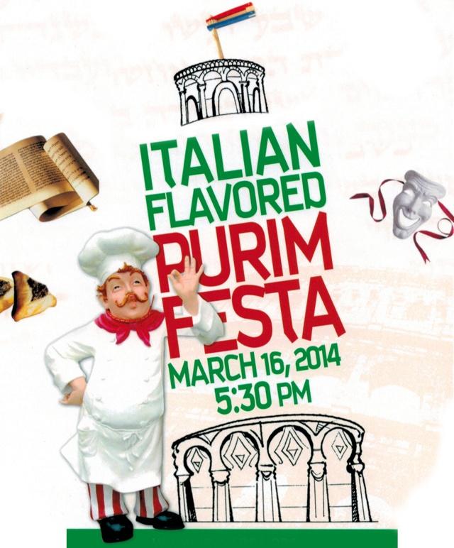 Purim Festa - Sunday, March 16 at 5:30 pm