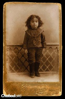 The Rebbe as a child (Photo: JEM)