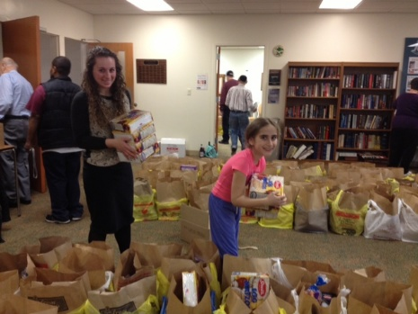Packing Food for the Food Pantry 4/6/14