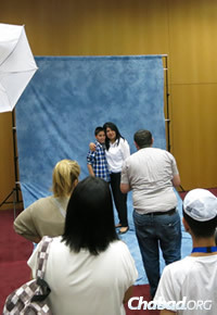 Family and friends joined for photo shoots to mark the day. (Photo: Colel Chabad)