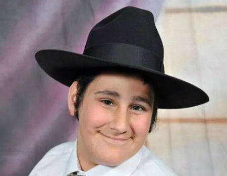 Mendel Bolton on the day of his bar mitzvah