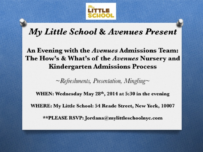 Avenues admissions event at My Little School.jpg