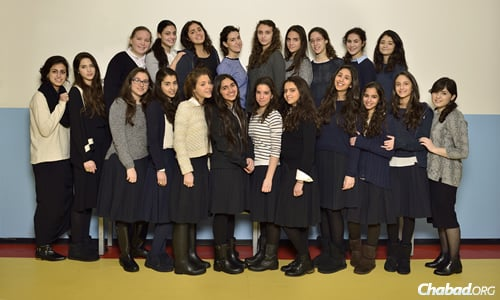 Students at the Joe Nahmad High School in Milan, Italy, which this year instituted a program offering seniors an official Bagrut degree from Israel.