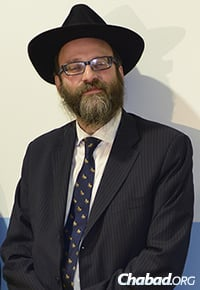Rabbi Igal Hazan, director of administration and development at the school