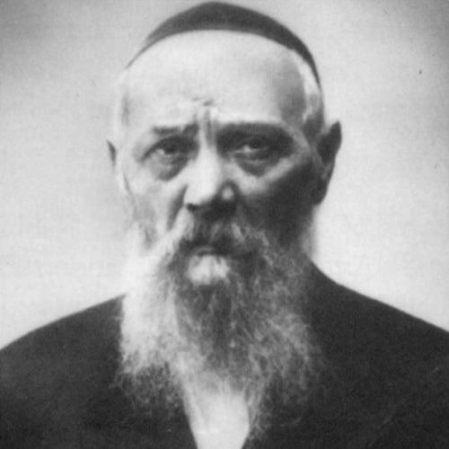 This photo of Rabbi Levi Yitzchak Schneerson was taken during his imprisonment (Kehot Publication Society).