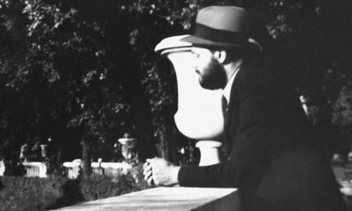 The Rebbe photographed in a Paris park shortly after arriving in Paris in 1933. Courtesy of JEM.