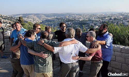 """Dancing during a visit to Jerusalem for this group of """"first-timers"""" to Israel."""