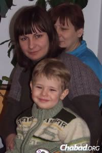 Young Vadim Sitnikov—whose mother, Anna, and grandmother, Svetlana, pictured above, were killed in a shelling attack—arrived at the Zhitomer camp with his grandfather just days after the family tragedy.