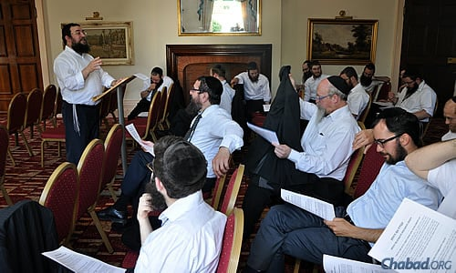 Rabbi Avremi Kievman, of Chabad-Lubavitch Liverpool, led a workshop at the two-day conference.