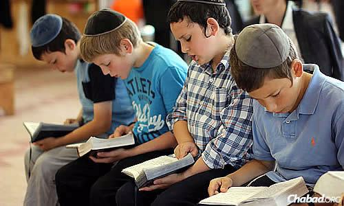 The kids at Camp Gan Israel in Parkesville, N.Y., have been learning a daily verse of Torah related to the Holy Land and putting coins in a tzedakah box on behalf of Israel.