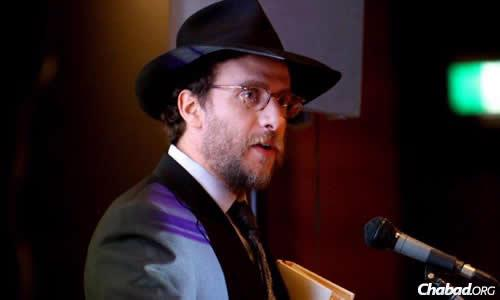 The synagogue's chief minister and spiritual head Rabbi Levi Wolff. (Photo: Ingrid Shakenovsky)