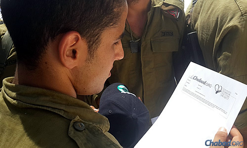 """""""We thought that if people could dedicate a mitzvah and connect with a soldier, it would have a tremendously uplifting effect on both the soldier and the person taking on the mitzvah."""" (Photo: CTVP)"""