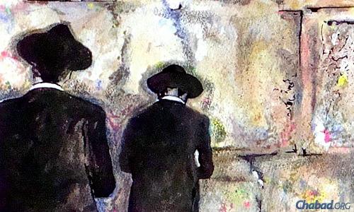 """""""שלושת האבות"""". ציור: לנ""""מ"""