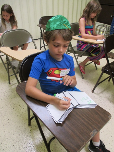 First week at Hebrew School 9/14-16/2014