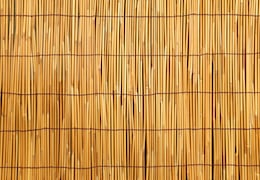 A bamboo mat can make a convenient sechach, but you'll need assurance it was not made for household use.