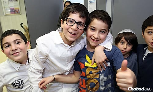 """The schools teach Jewish values and life lessons, and the atmosphere """"felt like family,"""" according to students. (Benams Photo)"""