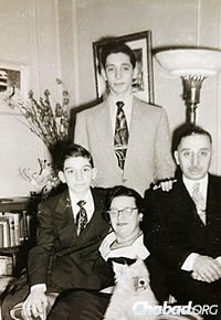 The Bernhard family: Parents Tuvia Gutman and Leah Bernhard, and sons Nachman and Shmuel
