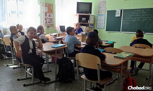 Children at Ohr Avner Levi Yitzchak Schneerson Jewish Day School