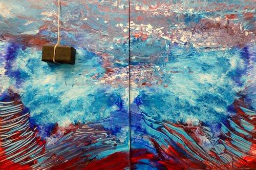 """""""המבול"""". ציור: יורם רענן"""