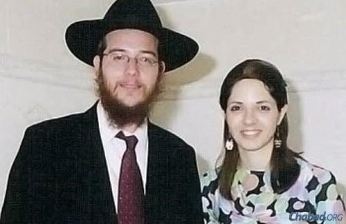 Rabbi Gavriel and Rivka Holtzberg.