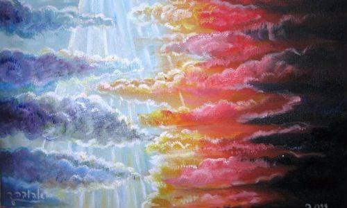 בריאת האור. ציורה של אהובה קליין ©