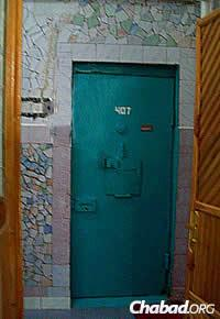 Prison doors are often brightly painted to hide their more dismal aspects.