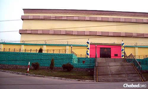 The exterior of another Ukrainian prison, this one downright colorful. (Photo: Dovid Margolin)