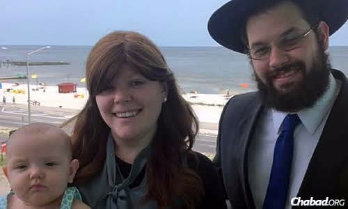 Rabbi Akiva and Hannah Hall, and their daughter Leah, now in Biloxi, Miss.