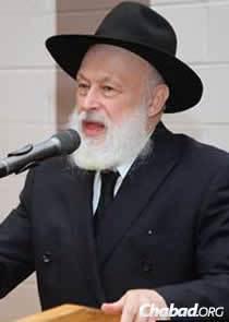 Rabbi Yehuda Krinsky, chairman of Merkos L'Inyonei Chinuch, the educational arm of the Chabad-Lubavitch movement