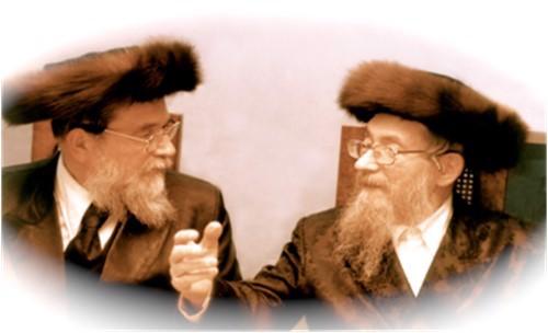 Mon père, Rav Yaakov Moshé HaKohen Friedman (à gauche) avec mon grand-père, Rav Méir Yisroel Isser HaKohen.