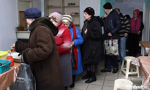 Daily life in Donetsk has gotten hard; each day, 250 Jewish community members show up at the community center's kitchen to receive what may well be their only hot meal of the day.