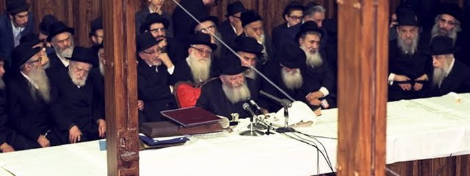 The Lubavitcher Rebbe, of righteous memory, at the 10 Shevat Farbrengen on January 22, 1975. (Photo: JEM / The Living Archive)