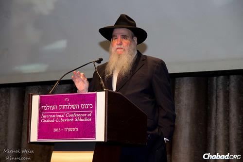 Rabbi Moshe Kotlarsky, vice chairman of Merkos L'Inyonei Chinuch, the educational arm of the Chabad-Lubavitch movement (Photo: Michal Weiss/Kinus.com)
